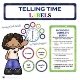 Telling Time Analog Clock Labels {2 Designs in 1!} - Class
