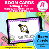 Telling Time Analogue & Digital Clocks BOOM Cards For Dist