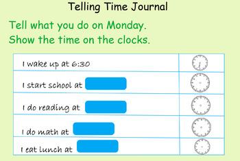 Telling Time Anchor Tasks for Math in Focus/Singapore/Math Talks