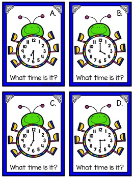 Telling Time Around the Room: Happy Bugs