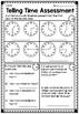 Telling Time Assessment - Quarter Hour, Half Hour, Hour