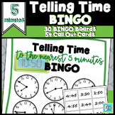 Telling Time Game BINGO to Nearest 5 Minute