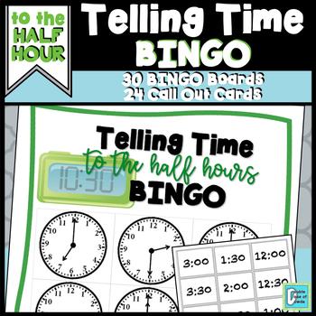 Telling Time BINGO - Half Hour