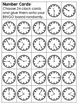 Telling Time BINGO Math Game for Intermediate Students - 3 Versions to Play!