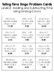 Telling Time BINGO Math Game for Intermediate Students - 3