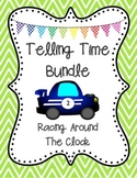 "Telling Time BINGO ""Racing Around the Clock"" 25 Pre-Made Cards -Plus Freebies!"