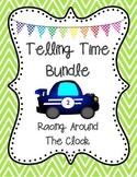 "Telling Time BINGO ""Racing Around the Clock"" 25 Pre-Made Cards -Plus Freebies!"