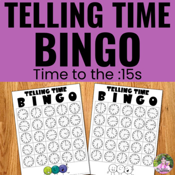 Telling Time - Time to the :15s Game