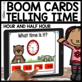 Telling Time to the Hour and Half Hour Boom Cards | Distan