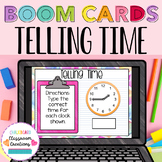2nd Grade Telling Time BOOM CARDS Distance Learning