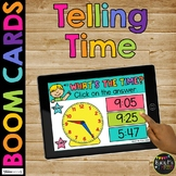 Telling Time BOOM CARDS™ to the Minute & Hour Measurement Digital Learning Game