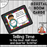 Telling Time Digital BOOM™ Cards: Time to the Hour, Half,