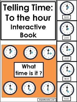 Telling Time BUNDLE! Interactive books + Interactive Worksheets for telling time