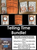 Telling Time BUNDLE! Interactive books + Interactive Works