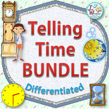 Telling Time BUNDLE - Task Cards, Worksheets and More!