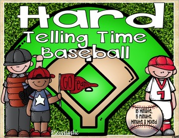 Telling Time Baseball (5 minute & minute)