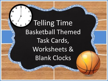 Telling Time Basketball Themed