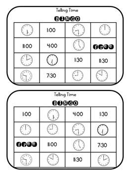 Telling Time Bingo EDITABLE!