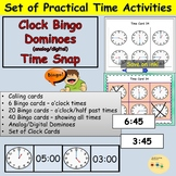 Telling Time Bingo, Dominoes, Snap! Games and Match up Activity