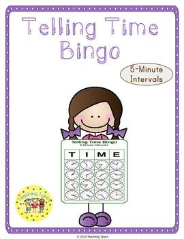 Telling Time 5 Minutes Bingo