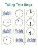 Telling Time Bingo Fun