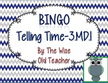 Telling Time Bingo Game PowerPoint with Blank Bingo Cards 3.MD.1