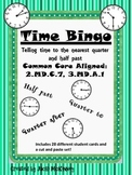 Telling Time Bingo Half and Quarter Hour