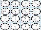Telling Time Bingo- Hour & Half Hour