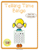 Telling Time Quarter Hour Bingo