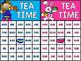 Telling Time Bingo - Tea Time - Telling Time to the Quarter Hour
