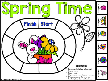 Telling Time Bingo - Spring Time - Telling Time to the Nearest Half Hour