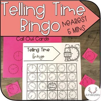 Telling Time Bingo (To the Nearest 5 Minutes)