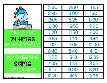 2.MD.7 - Telling Time BINGO Game and Exit Tickets