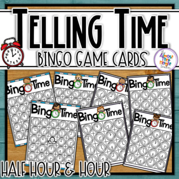 Telling Time Bingo for the hour and half hour