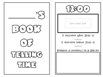 Telling Time Book {hands-on! cut & glue, illustrate and creatively write!}