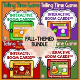 Telling Time, Boom Cards Bundle, Halloween, Thanksgiving, Games, Differentiated