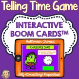 Telling Time, Boom Cards, Halloween Theme, Advanced, Games