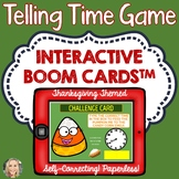 Telling Time, Boom Cards, Thanksgiving Theme, Advanced Level, Games