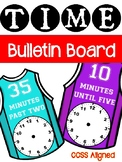 Telling Time Bulletin Board - Basketball Theme