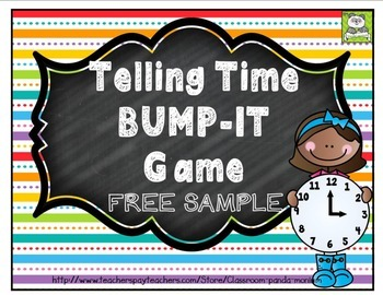 Telling Time Bump-It Game FREE Sample (CC Aligned)