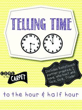 Telling Time Bundle: Hour & Half Hour