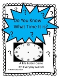 Telling Time Bundle- Matching hour and half hour file folder game