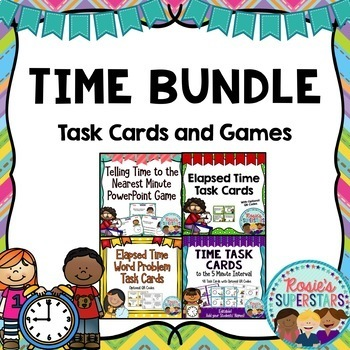 Telling Time Bundle: Task Cards and Games