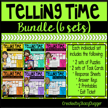 Telling Time Bundle - Task Cards and More
