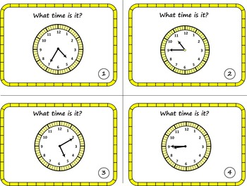 Telling Time Bundle: Telling time to the 5 min Interval