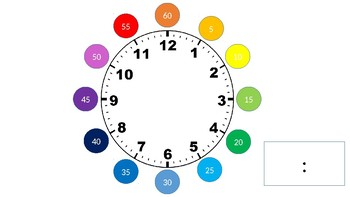 Telling Time By 5's: clock and flashcards