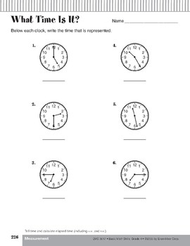 Telling Time/Calculating Elapsed Time