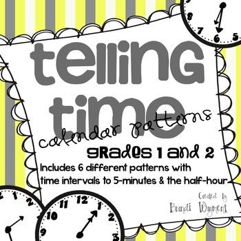 Telling Time Calendar Patterns
