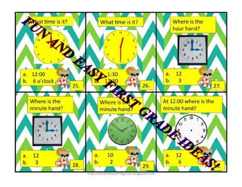 Telling Time Card Game Fun (Common Core Aligned)