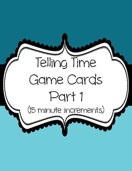 Telling Time Card Game Part 1